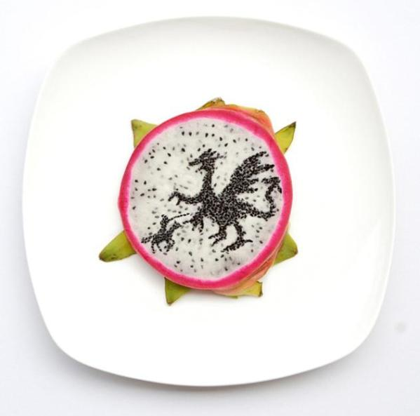 dragon-art-food