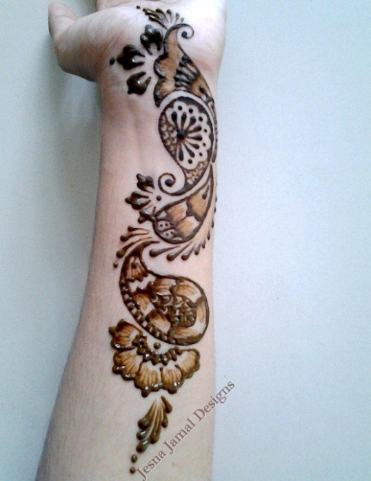 Simple Quick Mehndi Designs : Step by easy arabic mehendi designs for beginners