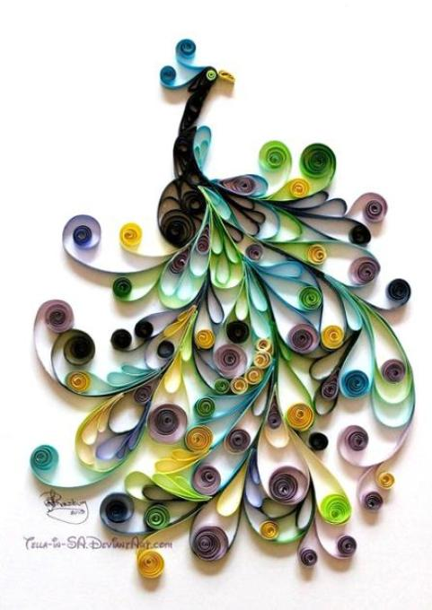 paper-quilling-peacock