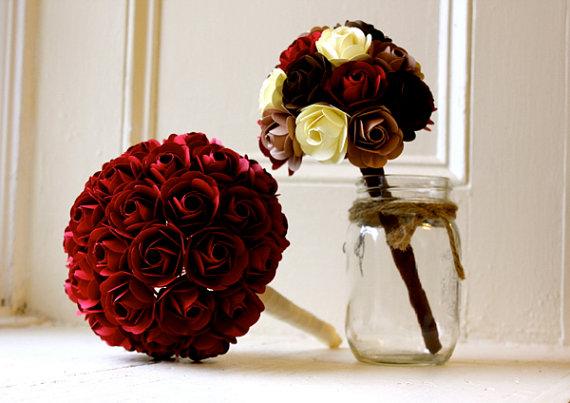 bridal-bouquet-paper-rose