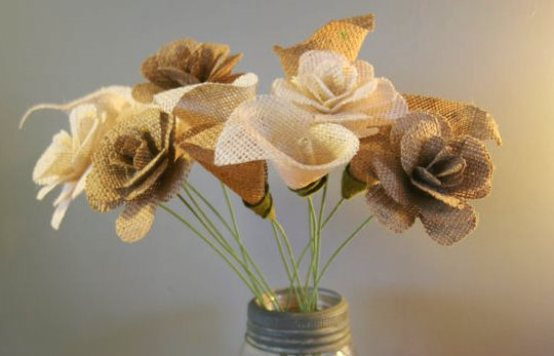 burlap-flower-ideas