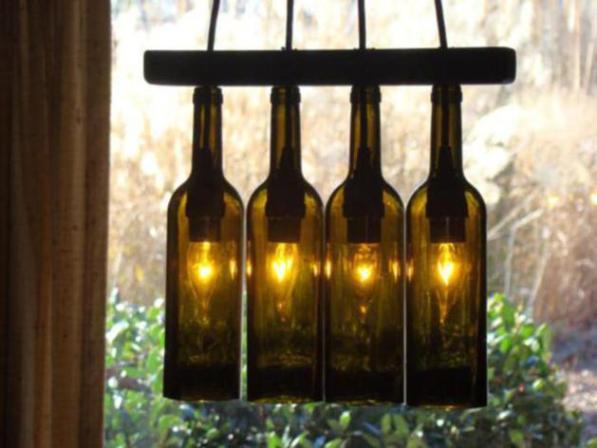 Diy wine bottle chandelier crafts life chilli wine bottle chandeliers mozeypictures Gallery