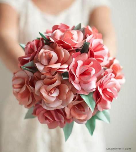 paper-rose-bridal-bouquet