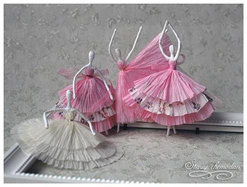 DIY Tissue Paper Ballerinas By Stariy Chemodan