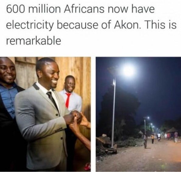 600 Million Africans Now Have Electricity Because of Akon