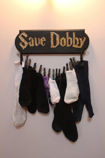 7 ways to make your laundry room better! Save Dobby sock holder!