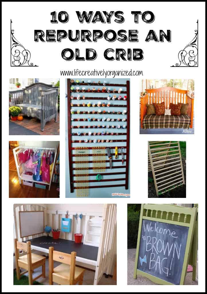 garage chair with wheels swing hanging from ceiling 10 surprising ways to repurpose a baby crib - life, creatively organized