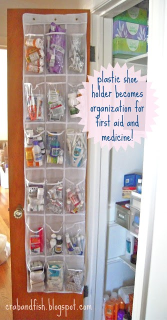 25 ingenious ways to use shoe bags (but not for shoes)! First aid and medicine organizer