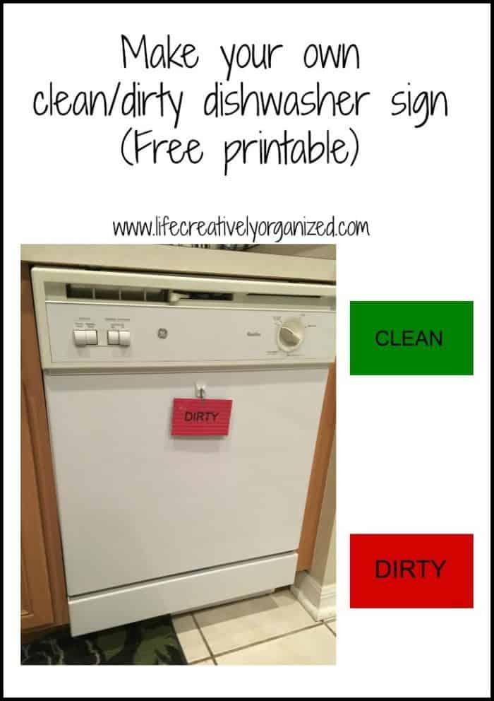 DIY Clean Dishwasher Printable