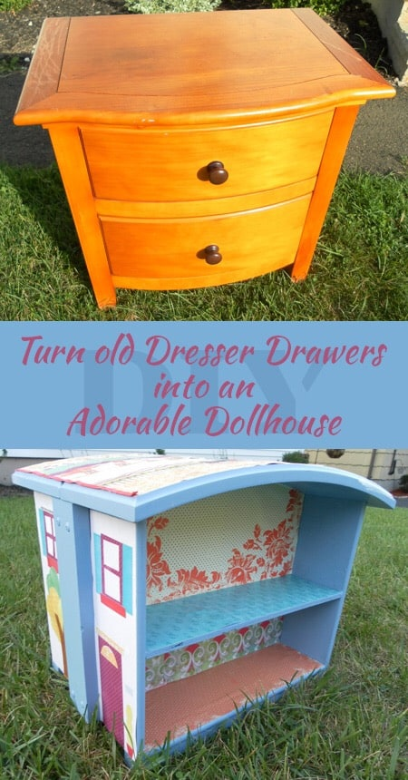 16 fabulous ways to repurpose old dresser drawers - make an adorable dollhouse