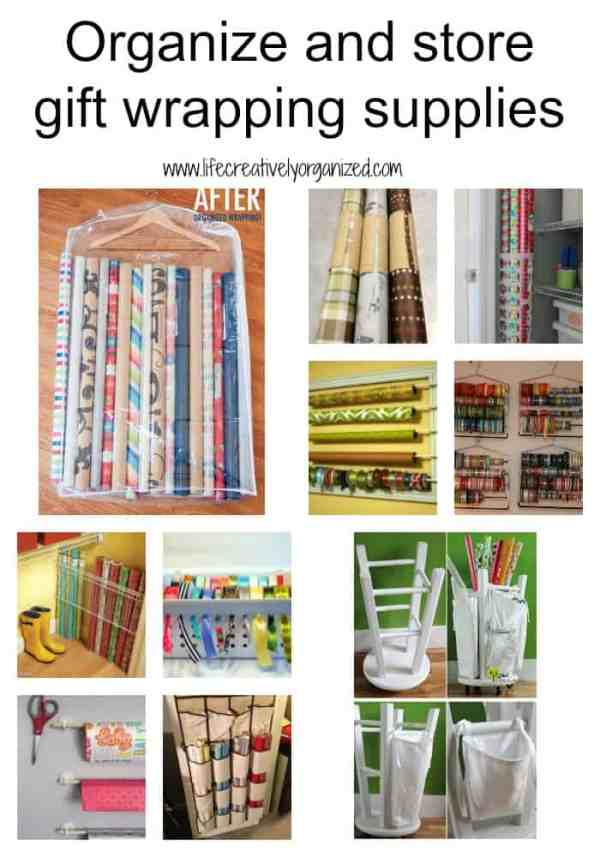 How to organize gift wrapping supplies LIFE CREATIVELY