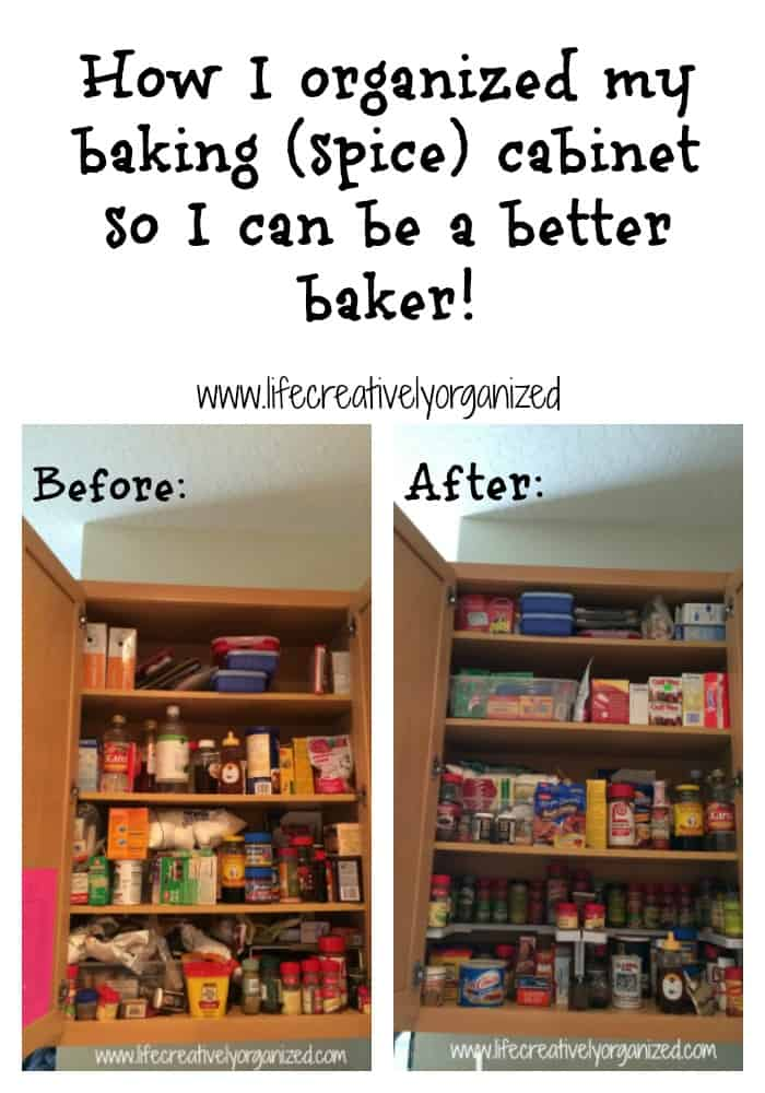 Here Is A Tutorial On How I Organized My Baking And Spice Cabinet So It Is