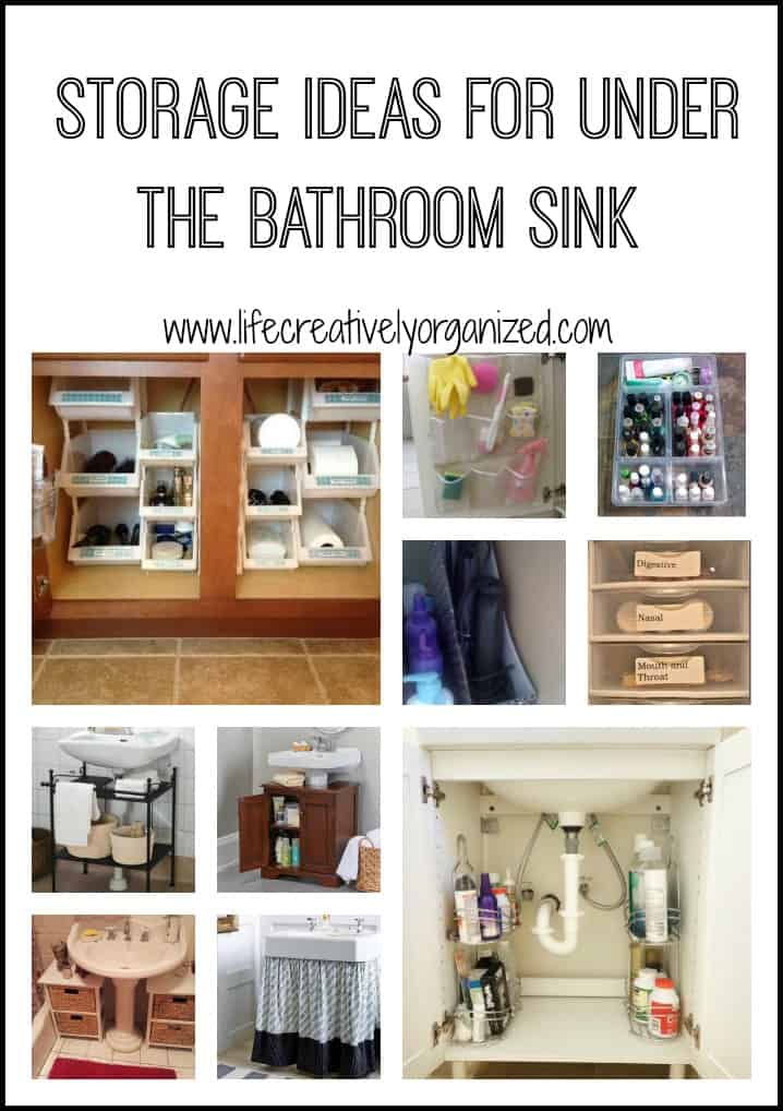 Organize the space under the bathroom sink  LIFE CREATIVELY ORGANIZED