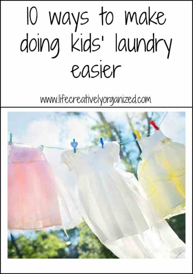 10 ways to make doing kids' laundry easier!