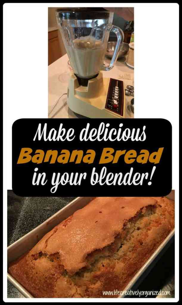 Did you know you can make banana bread in the blender? Well, you can and it is delicious!