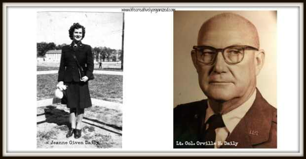 Military pictures - Orv and Jeanne Daily (my parents)