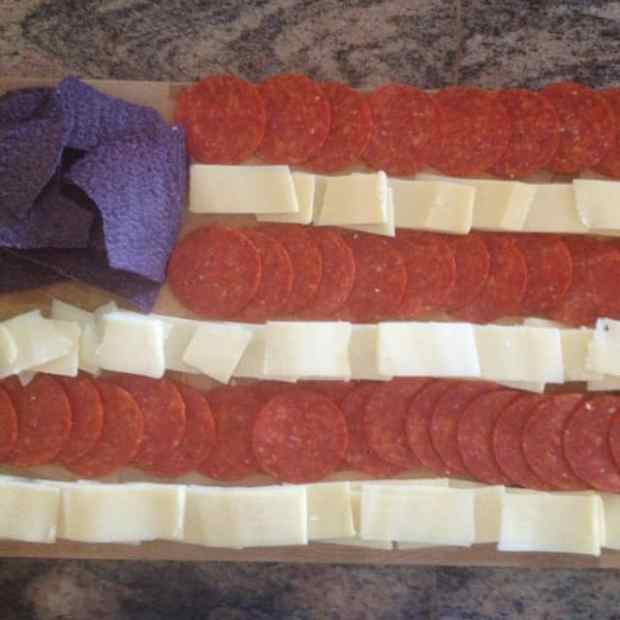 Patriotic cheese tray flag - because 'Merica
