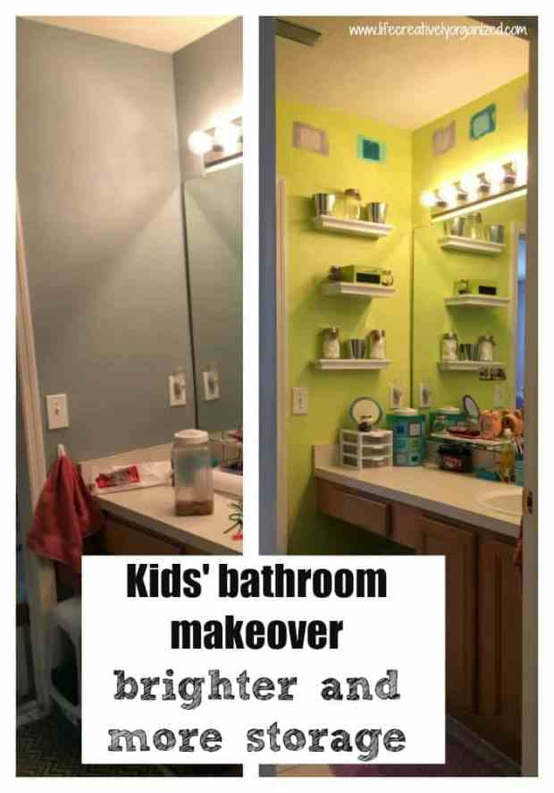 Kids' bathroom makeover - brighter and more storage