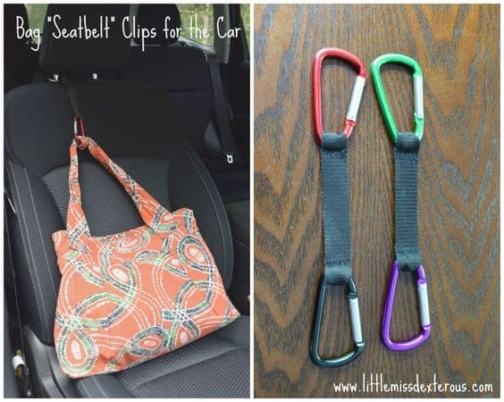 Ten ways to organize and clean your car! DIY purse holder