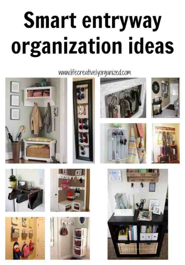 Here are some smart entryway organization ideas to make getting out of the house easier, like a designated drop zone for things like keys, backpacks, mail and other important items that you need to take with you each day.