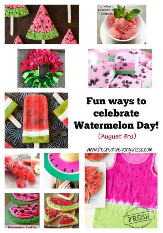 Happy Watermelon Day! What? You didn't know there's a national watermelon day? Well, it's today August 3rd! Here are fun recipes & crafts to help celebrate!