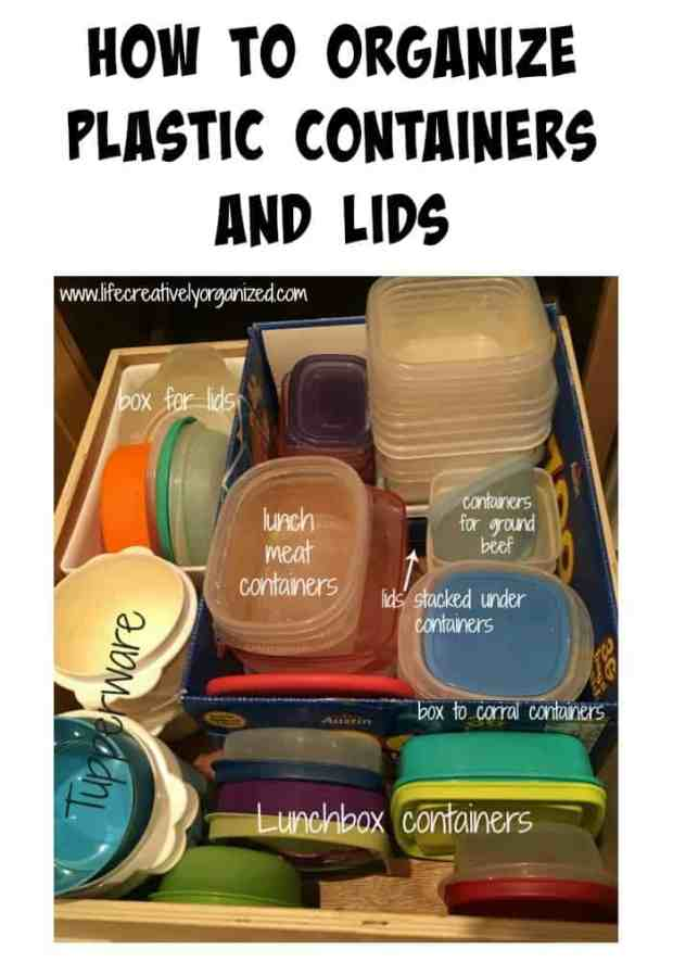 Can't ever find the lid that matches that plastic container? Here's how to organize plastic containers and lids so you have just the amount you need.