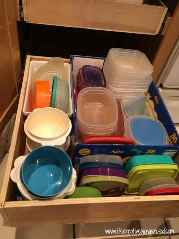 How to organize plastic containers and lids LIFE CREATIVELY ORGANIZED