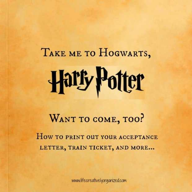 Take me to Hogwarts, Harry Potter! It's September 1st and as a good children's librarian, I know that today is the start of term for Hogwarts. Come with me!