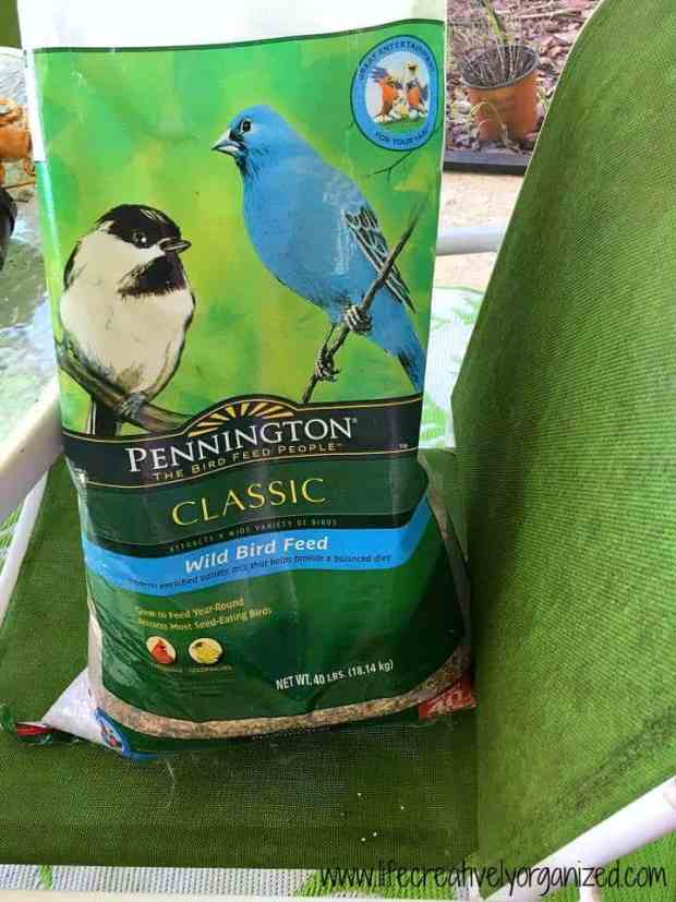 Do you love to feed wild birds, but find a large bag of seed too hard to work with? Well, here's a great way to store bird seed to keep it fresh & bug-free.