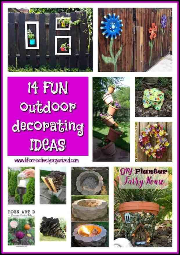 Fun outdoor decorating ideas - LIFE, CREATIVELY ORGANIZED