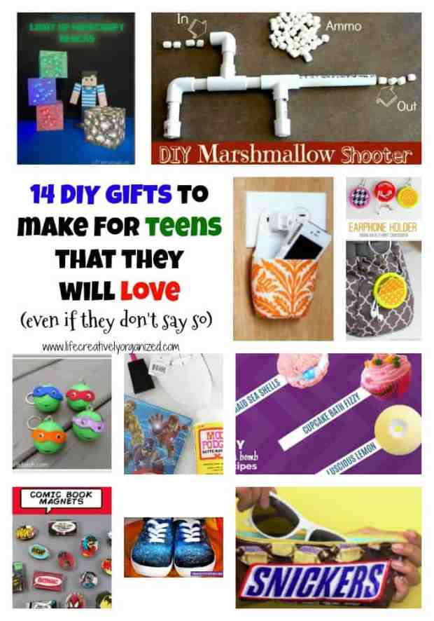 If you have teens in your life, you know they can be really hard to shop for. Here's 14 DIY gifts to make for teens they'll love (even if they don't say so).