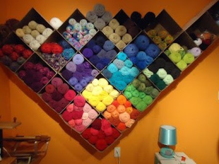 Are you drowning in yarn? If you are like most knitters and crocheters, I bet you are. Here are 16 clever yarn storage ideas to keep yarn neatly organized!