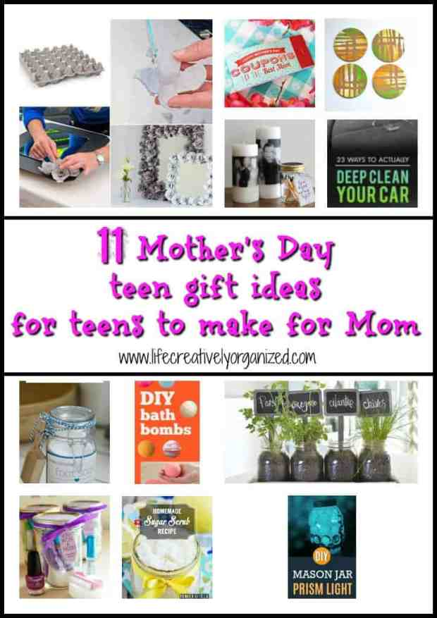 Here are 11 Mother's Day teen gift ideas for teens to make for Mom that you can casually pass on to your teen (by text?) & not one is a macaroni frame!