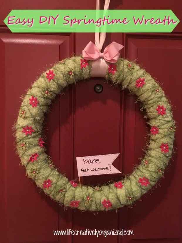 Easy Diy Springtime Wreath Life Creatively Organized