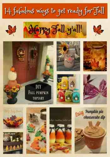 Fall! Get ready for cooler weather, spectacular leaf colors and pumpkin spice everything with these 14 fabulous ways to get ready for Fall!