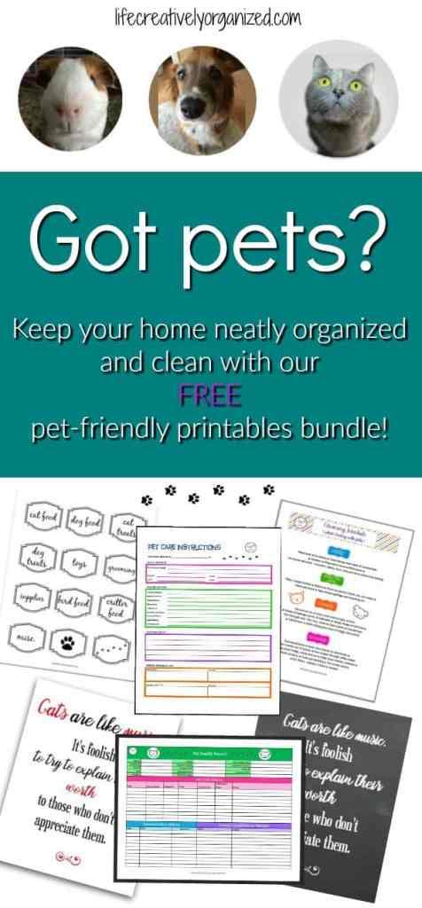 Pet printables bundle