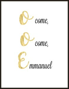 O come Emmanuel printable