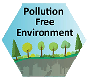 let's talk about plastic. Pollution free environment logo.