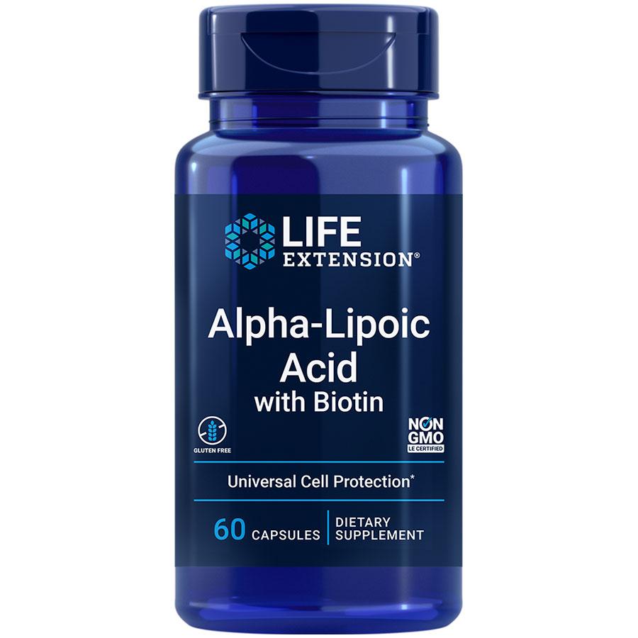 Alpha-Lipoic Acid with Biotin | Liver antioxidant - Life ...