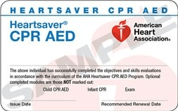 Heartsaver CPR AED – Thursday, April 13, 2017