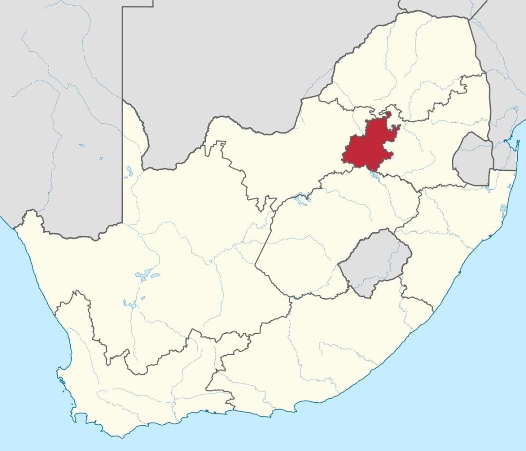 Gauteng Map, South Africa Guide
