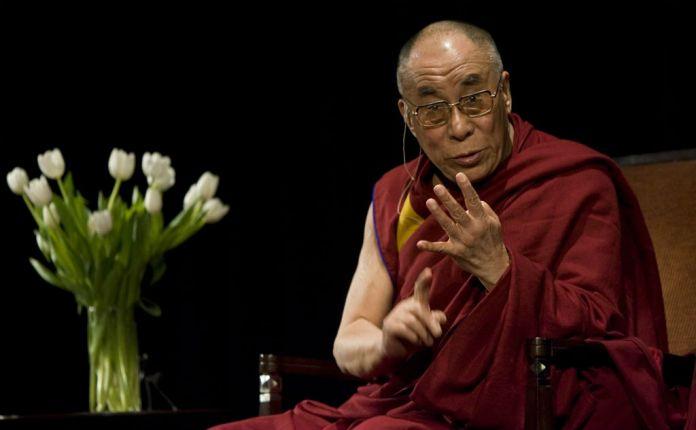 Il Dalai Lama in uno dei suoi incontri pubblici. Stephen Brashear / Getty