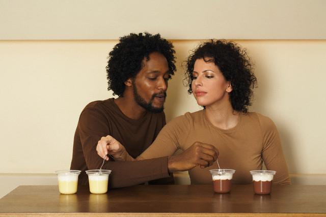 Couple in Interracial Relationship --- Image by © Judith Haeusler/Corbis
