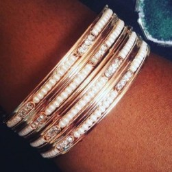 CLICK ME or follow @theewaade for the best Accessories like this Wrist candy encrusted with #pearls and #glitter.