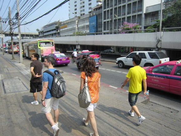 walk walk at bangkok
