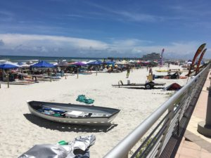 Lifeguard TV Host Medals In Beach Flags At USLA Nationals