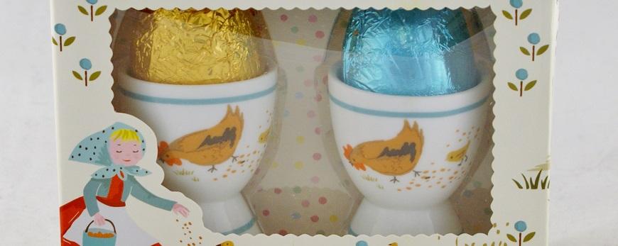 Farmer Greenwood's Milk Chocolate Eggs & Egg cups