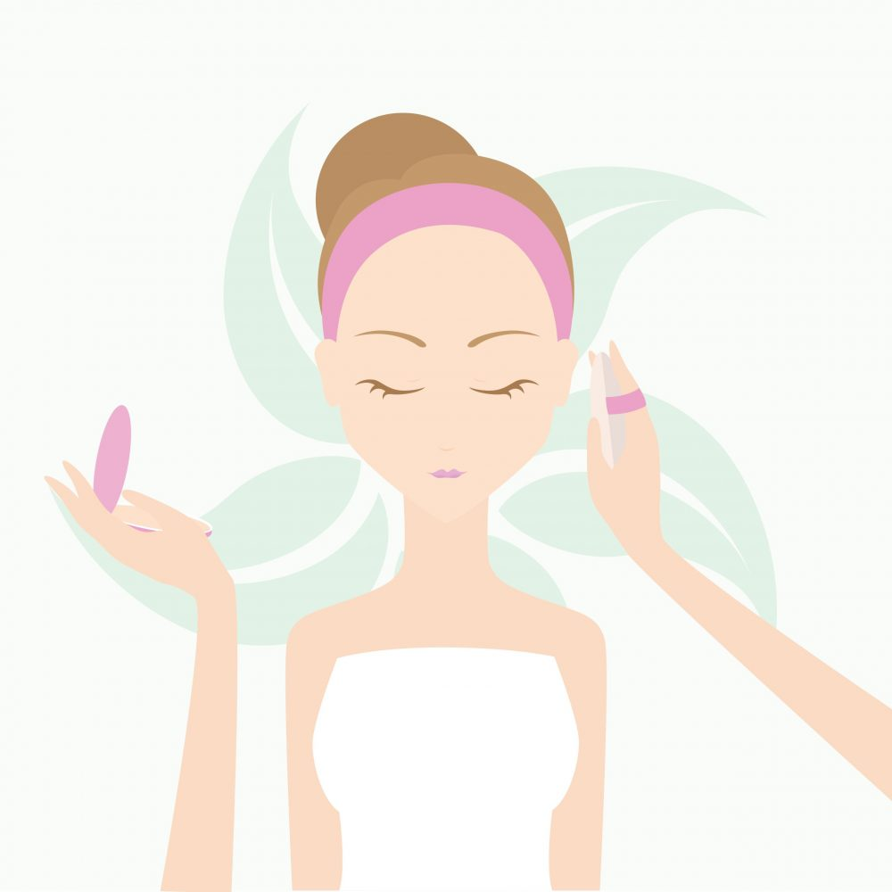 Vector Illustration Spa woman