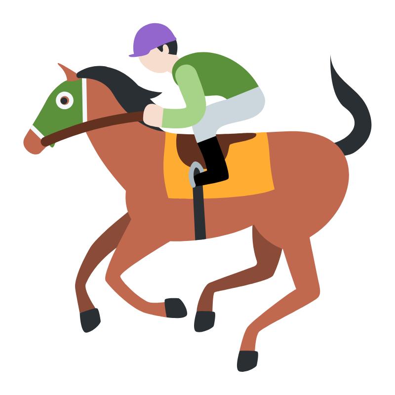 vector of a jockey on a horse