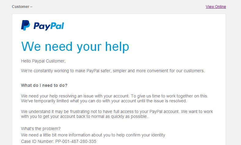 PayPal Scam Part 1